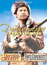 Davy Crockett - 2 Movies River Pirates King Wild Frontier -  FESS PARKER / EBSEN