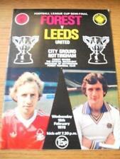 15/02/1978 Football League Cup Semi-Final: Nottingham F
