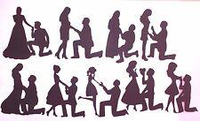 9 proposta matrimonio sposa sposo famiglia Die Cut Silhouette Nero o Bianco