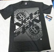 NBA Licensed Apparel Brooklyn Nets Short Sleeve Shirt Men's Black NEW