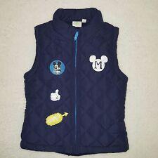 DISNEY BABY gilet veste sans manches matelassé MICKEY 12 ou 18 mois bleu NEUF