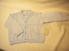 PEX BABY CARDIGANS 100% COTTON STYLE BRANKO  BLUE /WHITE NEWBORN - 3-6MTH