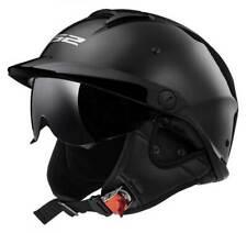 LS2 Helmets Rebellion Sun Shield Motorcycle Half Helmet - Gloss Black 590-100