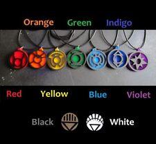 Lantern Corps Emotional Spectrum Pendant Necklace Green Red Yellow Violet Indigo