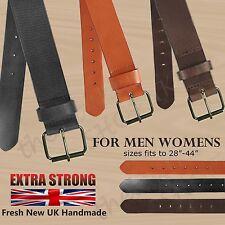 NUOVO Extra Forte 40mm Qualità Pieno Fiore Pelle 100% in Pelle UK Fatto a Mano Cintura da uomo