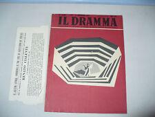 TEATRO RIVISTA IL DRAMMA 193/1953 REANTO E ELSA MERLINI