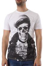 Shine T-Shirt Men 40362 Skull White