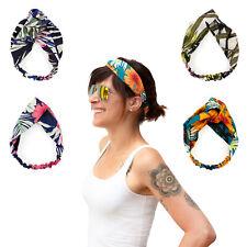 Damen Stirnband Haar Band elastisch Einheitsgröße Blumen Motiv - wählbar