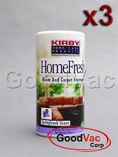 PACK OF 3 Kirby Homefresh Carpet Powder Freshener Room Deodorizer Odor Remover
