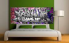 Papier peint tête de lit graffiti 1 3675 Art déco Stickers
