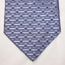 NEW Croft & Barrow Silk Neck Tie Light Blue w Solid Lines & Blue Pattern 1252