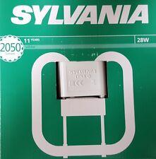 PACK OF 1,2,4 SYLVANIA 28W 4PIN GR10Q 2D LAMP CFL BULKHEAD WHITE 3500K 24999