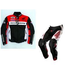 Repsol Moto Cuir Veste Pantalon Des sports Courses Peau de vache Cuir Costume