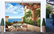 3D Daisy Flower Tiles 5 Garage Door Murals Wall Print Wall AJ WALLPAPER UK Lemon