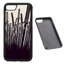 Samurai Swords RUBBER phone case Fits iPhone