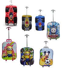Kids 3D 3 Piece School Bag Rucksack Backpack Trolley Set Travel Bag Case Cartoon