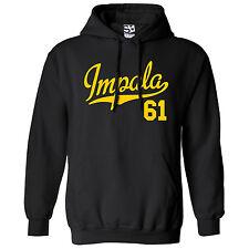 Impala 61 Script & Tail HOODIE - Hooded 1961 Lowrider Sweatshirt - All Colors