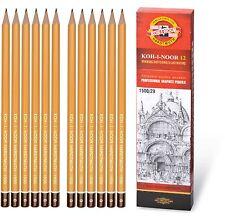 GRAPHITE PENCIL SET KOH-I-NOOR PROFESSIONAL 1500 1502 8B 10H DRAWING TECHNIC ART