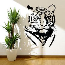 Tiger silueta Pared Arte Vinilo Pegatinas Mural transferencias de León Africano Calcomanías