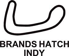 x2 Brands Hatch INDY Circuit Race Track Outline Vinyl Decals Stickers Graphics