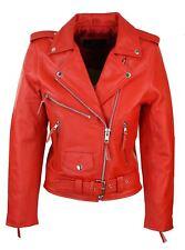 Blouson femme cuir véritable perfecto classique biker Brando style motard