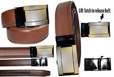 Men's belt leather automatic buckle belts fashion waist strap belt.