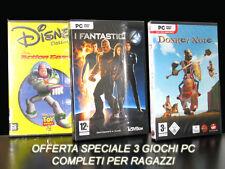 GIOCHI PC DISNEY CLASSICI ACTION GAME + I FANTASTICI 4 +DONKEY XOTE GIOCHI NEW