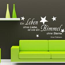 Wandtattoo Ein Leben ohne Liebe ist Spruch Zitat Wandspruch Sterne Himmel +186+