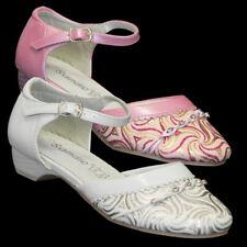 Festliche Mädchen Glitzer Klacker Sandale Taufe Brautschuh Kinder Schuhe S71
