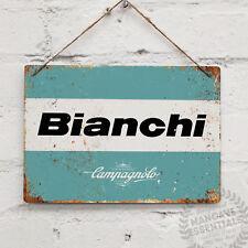 BIANCHI LOGO Campagnolo Replica Vintage Metal Wall Sign Retro Bike Gift Cyclist