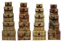 5pc Bamboo Storage Box Home Organizer Jewelry Boxes Wooden Trinket Storage Gift