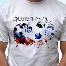 La Russia Bandiera Calcio bianco T SHIRT CALCIO Design Uomo Donna Bambini Baby