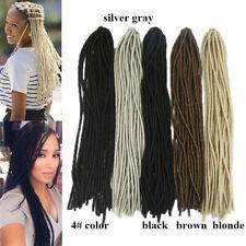 Soft Synthetic Goddess Faux Locs Crochet Braids Dreadlocks Fake Hair Extensions