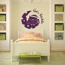 WANDTATTOO Eule Gut's Nächtle Schlafzimmer Uhu Gute Nacht Wandsticker