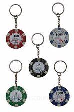 Poker Chip Keyring - Novelty Keychain