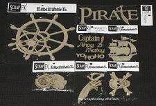 SCRAP FX Chipboard 'PIRATES' Embellishments Boys/Ship (Choose from 8 designs)