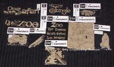 SCRAP FX Chipboard 'ZOO/SAFARI ANIMALS' Embellishments (Choose from 14 Designs)