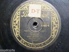 78 rpm BING CROSBY swing low sweet chariot / darling nellie gray