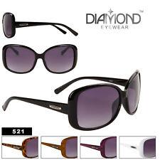 Diamond Eyewear Fashion Sunglasses Large Frame Designer Womens Glasses