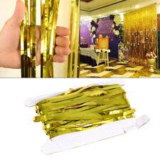 Brillance Rideau à Franges Aluminium Rideau Fils Cordes Décoration Fête Mariage