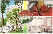 HOTEL INGLATERRA Tampico Tamaulipas Mexico SPLIT 4 VIEW Vintage 1950's Postcard