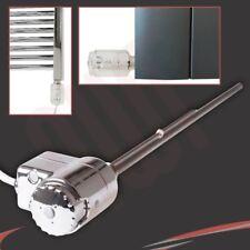 Chrome Thermostatic Towel Rail Radiator Heating Elements (150W, 300W & 600W)