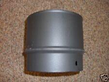 "6"" black vitreous stove enamel flue pipe 75mm long"