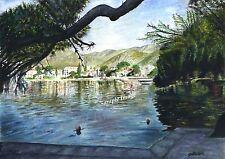 A4 A3 A2 Puerto Pollensa Pine Walk Spain Majorca Art Print Painting - RussellArt