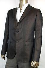 $2100 NEW Gucci Mens Two Button Glittering Blazer Jacket Brown 341983 2275