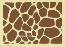 Stencil Giraffe Spots Animal Print Spots Zoo Wild Safari Stencil
