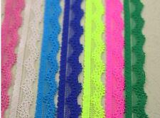 2 Meter elastische Spitze Spitzenband Spitzenborte 13mm 30 mm stretch lace
