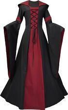 Mittelalter Karneval Gotik Gewand Kleid Kostüm Josephine Schwarz-Bordeaux XS-60