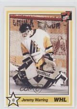 1990-91 7th Inning Sketch WHL #102 Jeremy Warring Tri-City Americans (WHL) Card