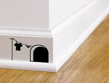 Mouse Casa pegatinas de pared-Lindo Funny Dormitorio Mickey Personaje-Arte De Pared Nueva
